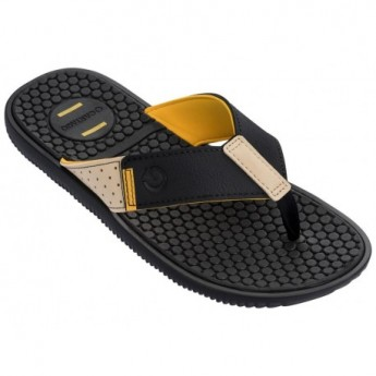 BARCELONA II black flat finger flip flops for man