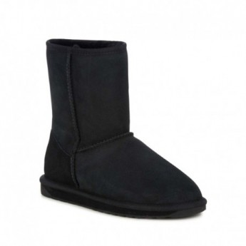 STINGER LO black flat closed boots for woman