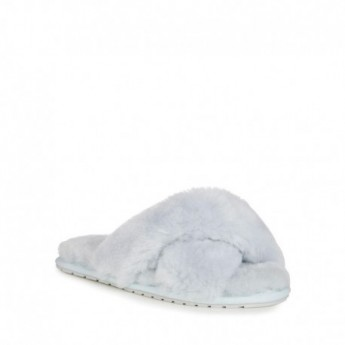 MAYBERRY grey flat open slippers for woman