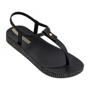 BOSSA SOFT II black flat finger sandals for woman
