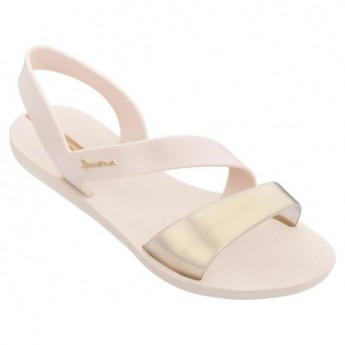 VIBE beige flat shovel sandals for woman