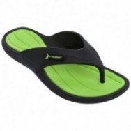 CAPE XIII black and green flat finger sandals for man