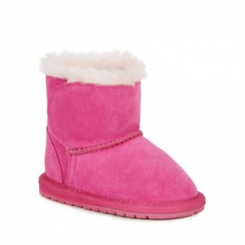TODDLE pink flat closed boots for baby