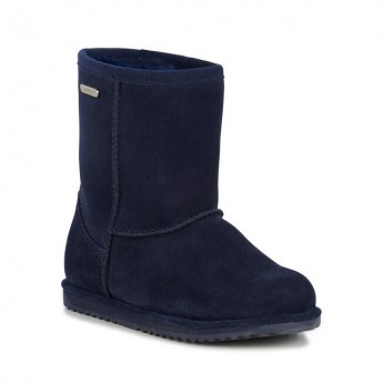 BRUMBY LO TEENS navy blue flat closed boots for child