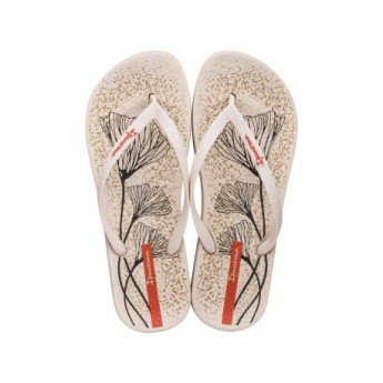 ANAT TEMAS XI beige flat finger flip flops for woman