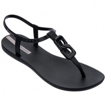 CLASS CHIC black flat finger sandals for woman
