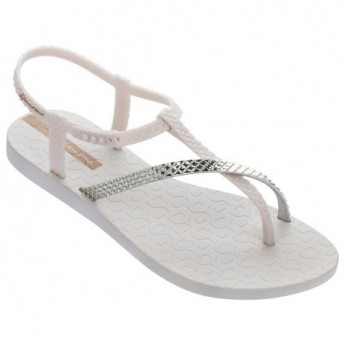 CLASS WISH II beige flat finger sandals for woman
