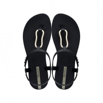 CLASS MOOD black flat finger sandals for woman