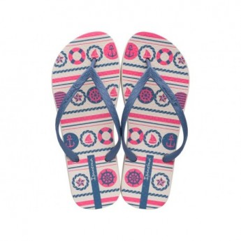 CLAS HAPPY IX beige and pink flat finger flip flops for woman