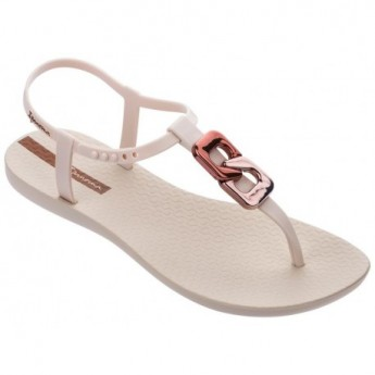 CLASS CHIC beige flat finger sandals for woman