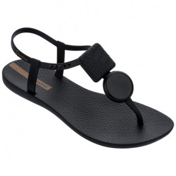 CLASS ELEGANT black flat finger sandals for woman