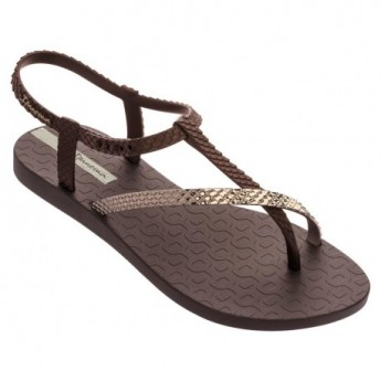 CLASS WISH II brown flat finger sandals for woman