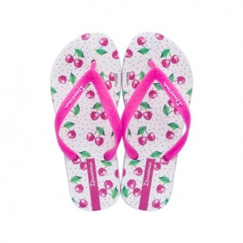 TEMAS IX white flat finger flip flops for girl