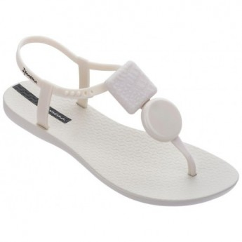 CLASS ELEGANT white finger sandals for woman