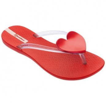 MAXI FASHION II red flat finger flip flops for woman