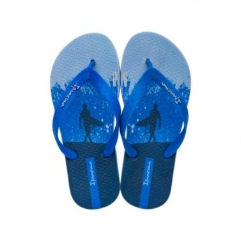 TEMAS IX blue flat finger flip flops for child