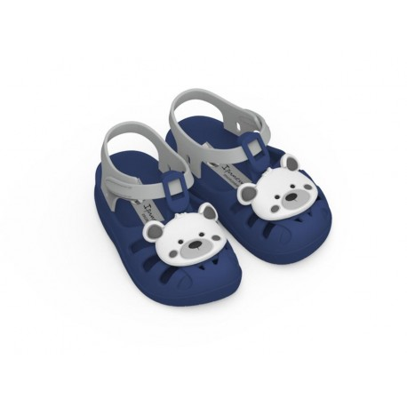 SUMMER VII blue flat crab sandals for baby