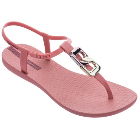 CLASS CHIC pink flat finger sandals for woman