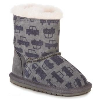 TODDLE CARS&TRUCKS grey fantasy print flat closed boots for baby