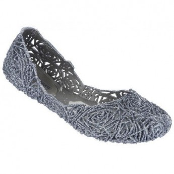 CAMPANA FITAS II grey flat closed ballet flats for woman