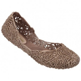 CAMPANA FITAS II bronze flat closed ballet flats for woman