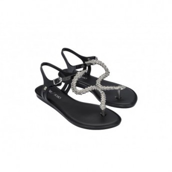 SOLAR + BOBO black flat open sandals for woman