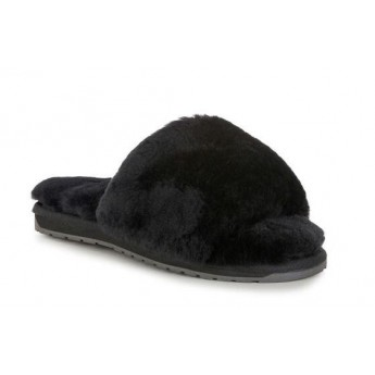 MYNA 20 black flat open slippers for woman