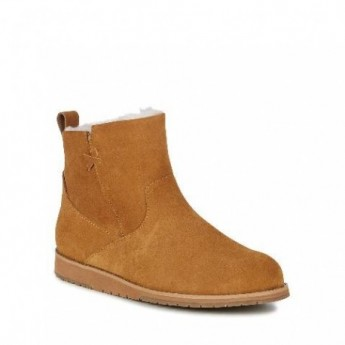 BEACH MINI brown flat closed boots for woman