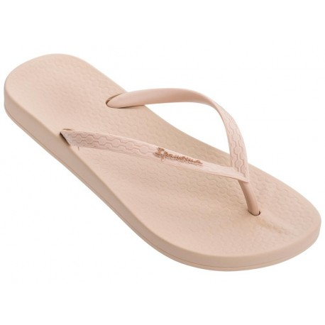 ANAT COLORS beige flat finger flip flops for woman