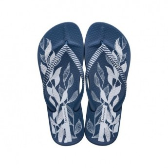 ANAT NATURE IV blue floral print flat finger flip flops for woman