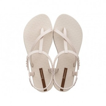CLASS WISH beige flat finger sandals for woman