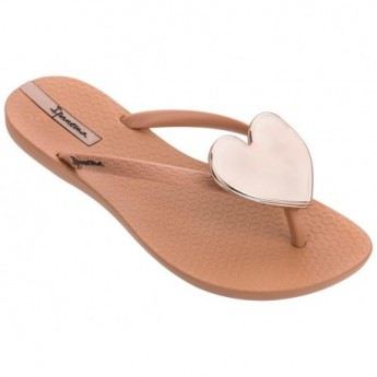 MAXI FASHION II brown flat finger flip flops for woman