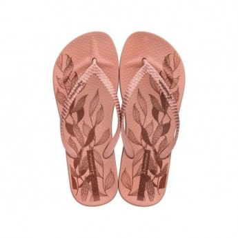 ANAT NATURE IV pink floral print flat finger flip flops for woman