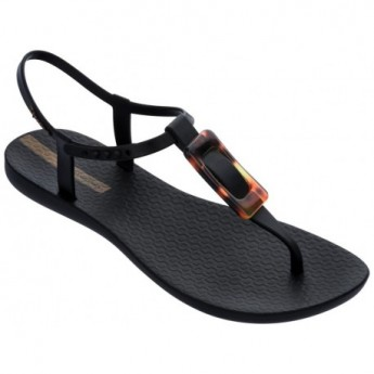 CLASS CHARM cristina pedroche black flat finger sandals for woman