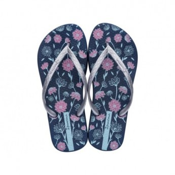 CLASSICA HAPPY VIII blue floral print flat finger flip flops for woman