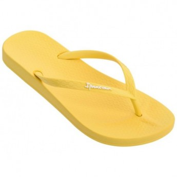 ANAT COLORS yellow flat finger flip flops for woman