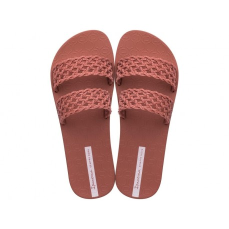 RENDA cristina pedroche pink flat shovel sandals for woman