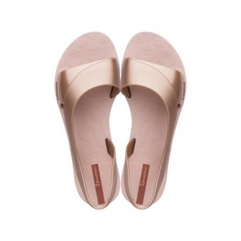 GO MINIMAL cristina pedroche pink flat open sandals for woman