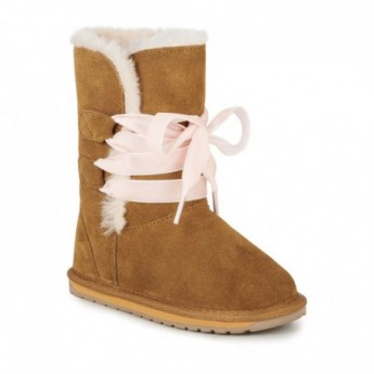 PHOENIX brown flat closed boots for girl