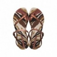 FASHION SAND IX cristina pedroche brown animal print flat finger sandals for woman