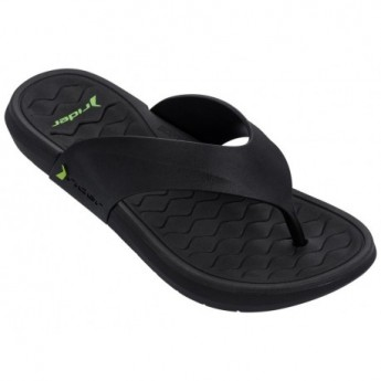 INFINITY III black flat finger flip flops for man