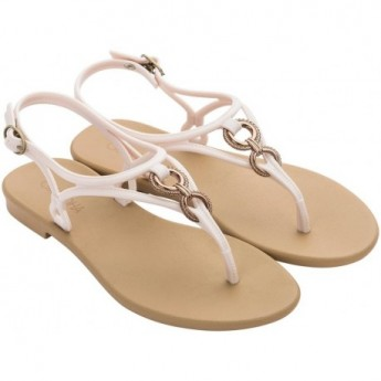 CACAU FASCINIO beige flat finger sandals for woman