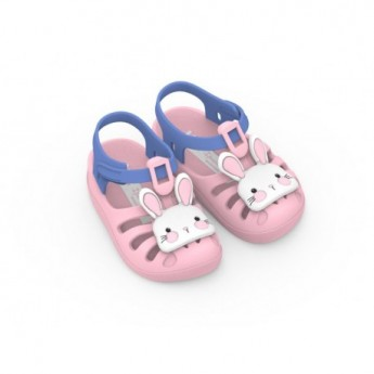 SUMMER VII pink flat crab sandals for baby