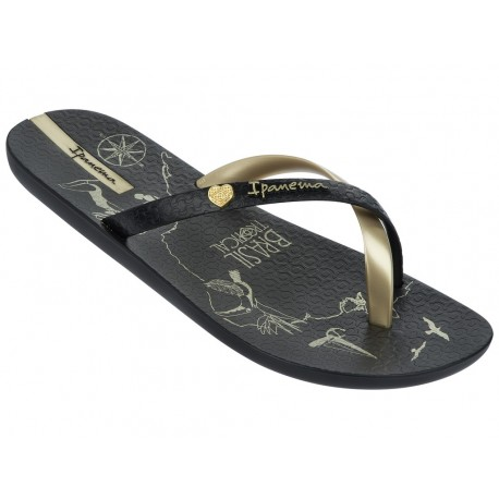 IPANEMA MADE IN BRAZIL FEM 23885 NEGRO DORADO