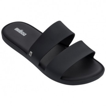COLOR POP black flat shovel sandals for woman