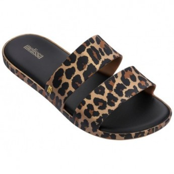 COLOR POP leopard animal print flat shovel sandals for woman