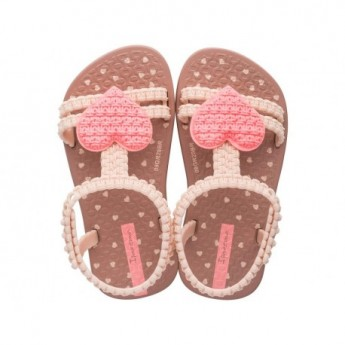 MY FIRST IPANEMA BABY pink flat crab sandals for baby