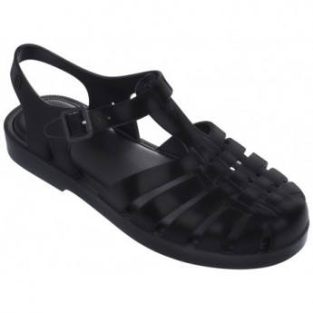 POSSESSION black flat crab sandals for woman