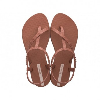 CLASS WISH copper flat finger sandals for woman