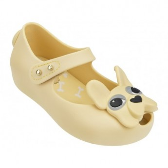ULTRAGIRL DOG yellow flat ballet flats for baby